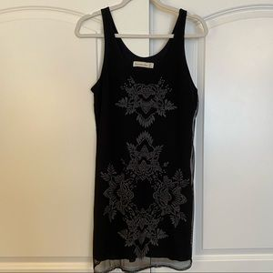 M Navy A&F Dress with Beading Detail